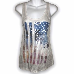 Victoria's Secret PINK American flag sequins tank